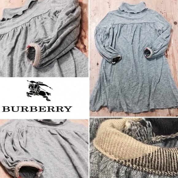 9186b6d1cc Burberry Other - BURBERRY BABY GIRL GRAY DRESS NOVA CHECK TRIM 12M